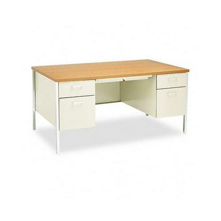 Hon Company Oak Desk - HON 34000 Series Desk