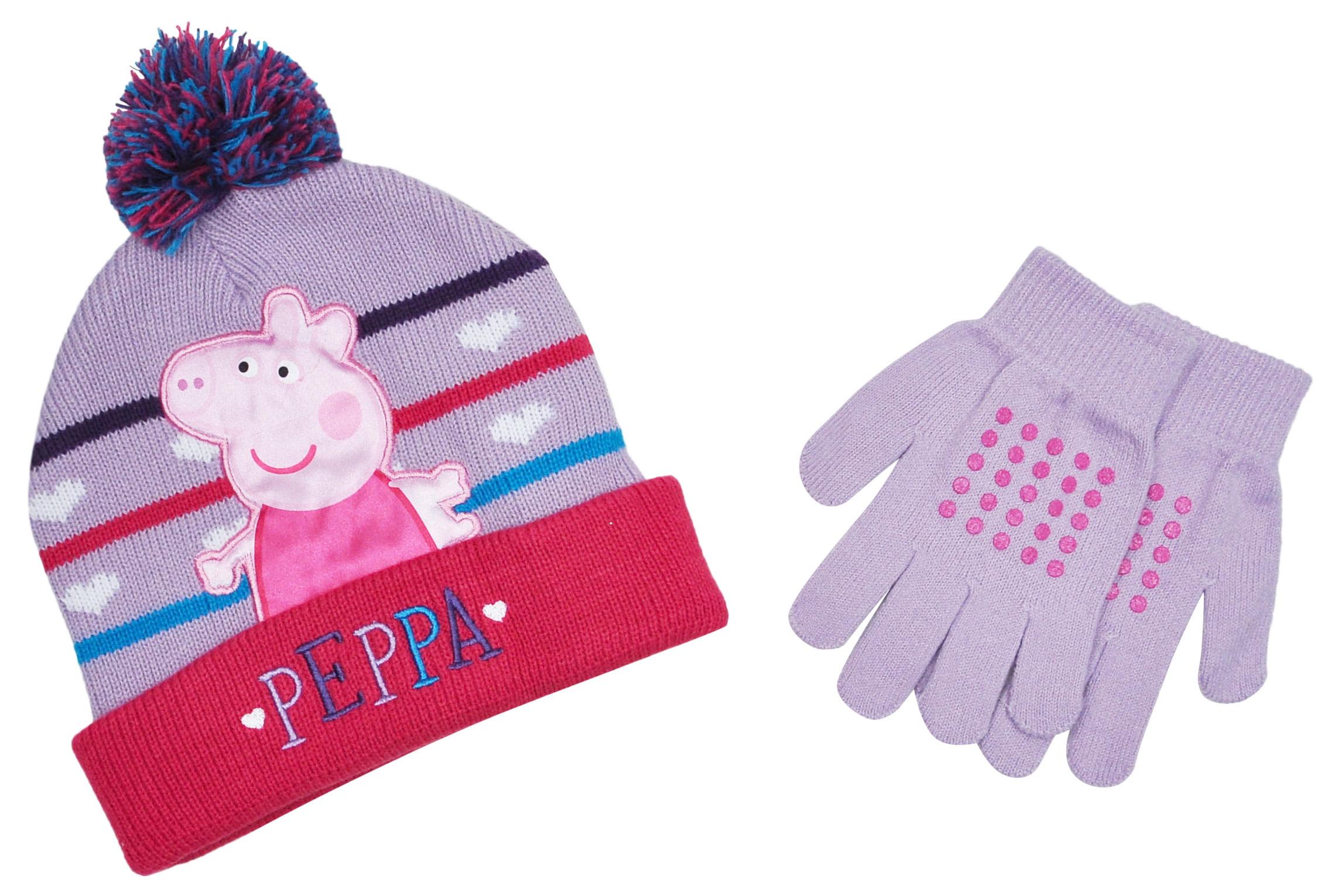 0d5d06120403c Peppa Pig - Peppa Girls Winter Beanie Hat   Gloves 2-Piece Set ...