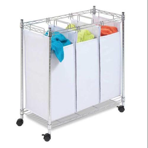 HONEY-CAN-DO SRT-01157 Laundry Sorter, 3-Compartment