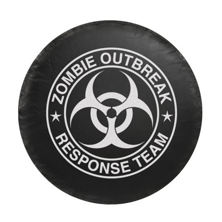 Universal Spare Tire Cover - Zombie White Logo (Small) (Fits Tire Diameters: 26.5 - 29.5 Inch)
