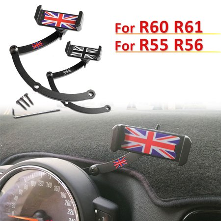 Cell Phone Car Mount Holder With Long Adjustable Arm And 360 Degree Rotatable Cradle For Mini Cooper R56 R55