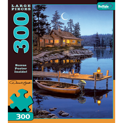 Darrell Bush Crescent Moon Bay 300 Piece Puzzle,  More Folk Art by Buffalo Games