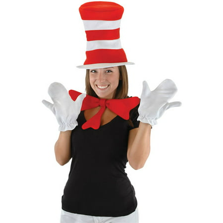 The Cat in the Hat Kit Adult Halloween Accessory](Cute Cat Makeup Ideas For Halloween)