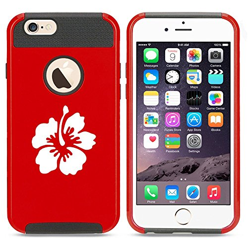 Apple iPhone 5 5s Shockproof Impact Hard Case Cover Hibiscus Flower (Red),MIP