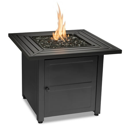 Endless Summer LP Gas Outdoor Fire Table with Steel Slat (Outdoor Table With Fire Pit In The Middle)
