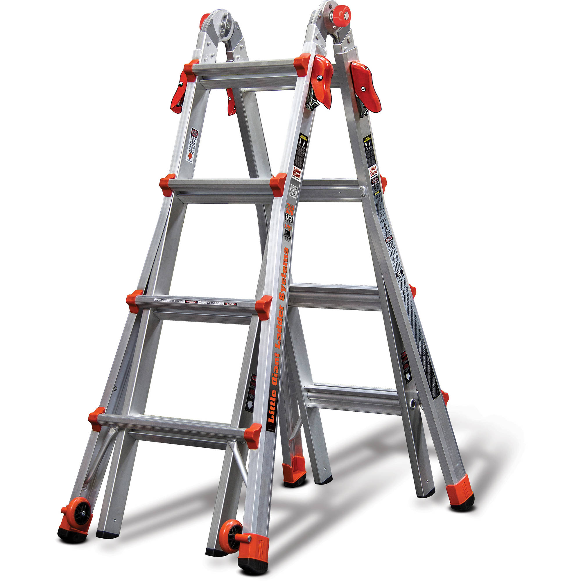 OxGord Heavy Duty Aluminum Folding Scaffold Work Ladder 12.5 ft ...