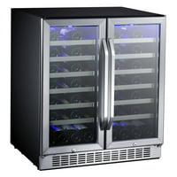 """Edgestar Cwr5631fd Built-In 30"""" Wide 56 Bottle Capacity French Door Wine Cooler"""