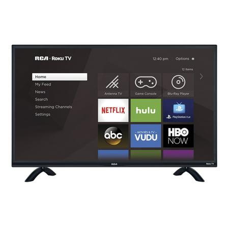 "RCA 55"" Class 4K Ultra HD (2160P) HDR Roku Smart LED TV (RTRU5527-W)"