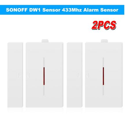 2PCS DW1 Sensor 433Mhz Door Window Alarm Sensor Wireless Automation Anti-Theft Alarm Compatible With RF For Smart Home Alarm System