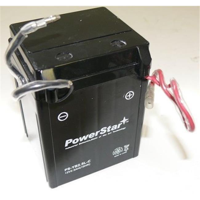 BatteryJack PS-YB2. 5L-C-03 Sealed AGM Battery Honda Shadow Spirit 1100 1997 - 2007 YTX14 - BS VT1100