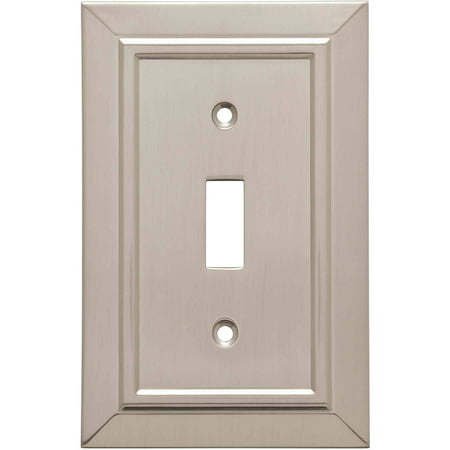Franklin Brass Classic Architecture Single Switch Wall Plate in Satin Nickel