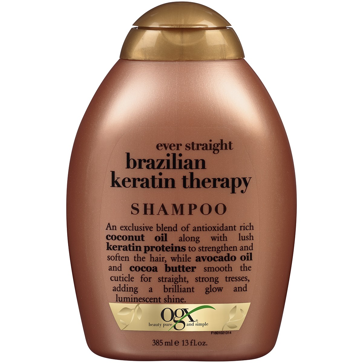 OGX Ever Straight Brazilian Keratin Therapy Shampoo, 13 Oz