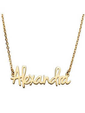 Personalized Women's Sterling Silver or Gold over Sterling Petite Fancy Script Name Necklace