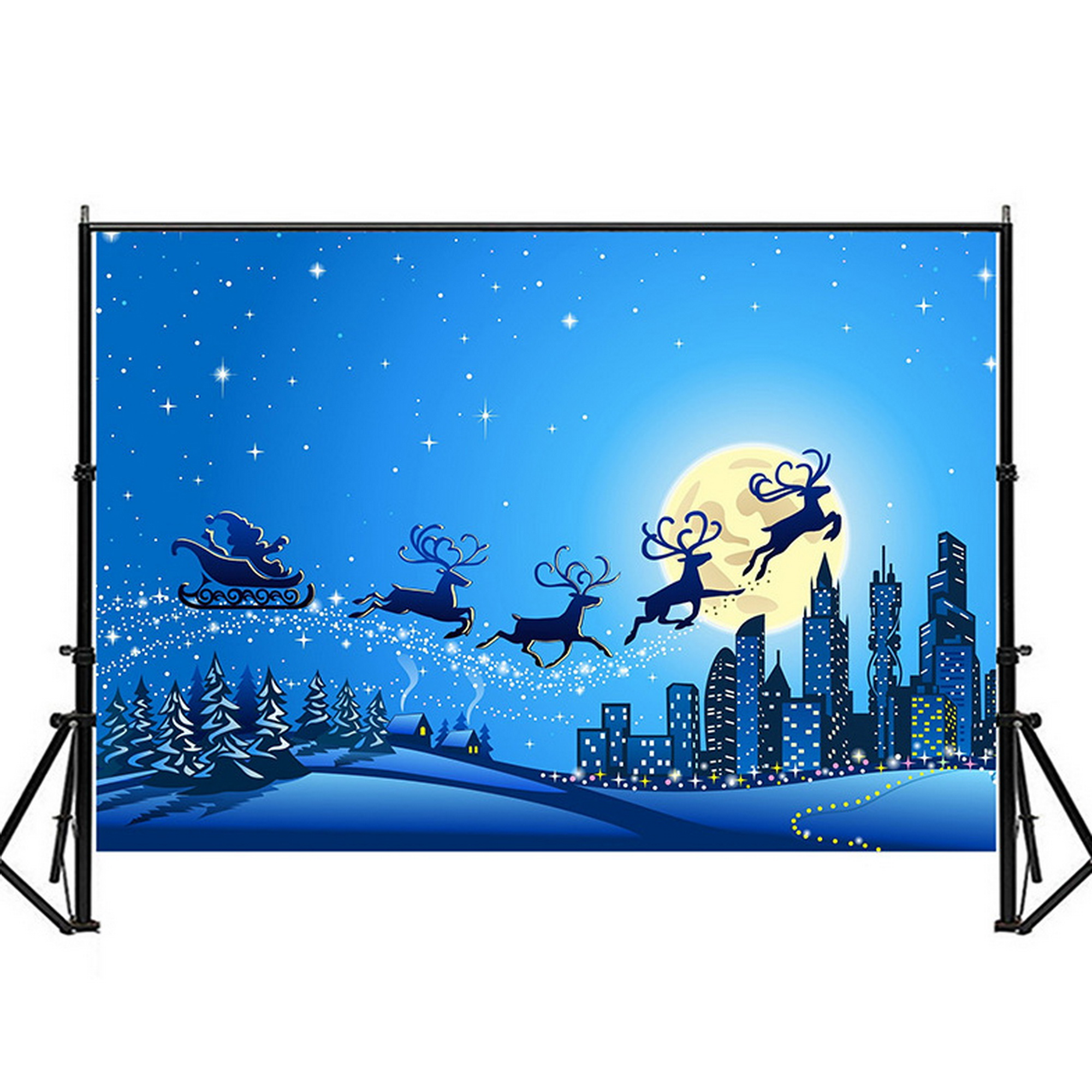 LB 7x5ft Merry Christmas Backdrops for Photography Colorful Balls Background for Christmas Party Cartoon Christmas Photo Background for Kids Party Birthday Party Portraits Photo Studio Props