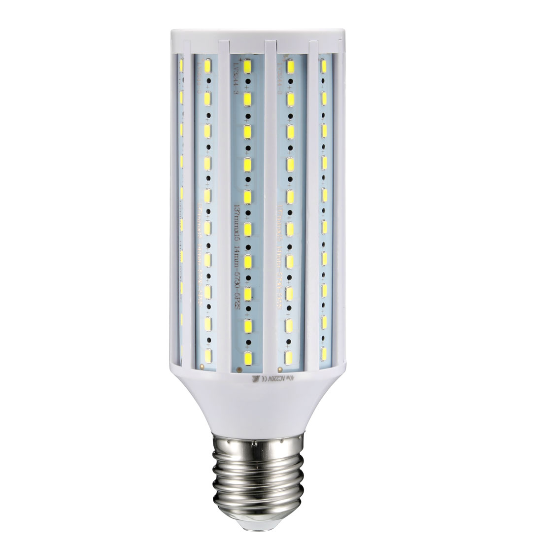 AC 220V 40W E40 Screw Base 150 LEDs SMD 5730 Pure White LED Corn Light Bulb - image 5 de 5