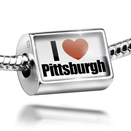 Bead I Love Pittsburgh Region  Pennsylvania  United States Charm Fits All European Bracelets