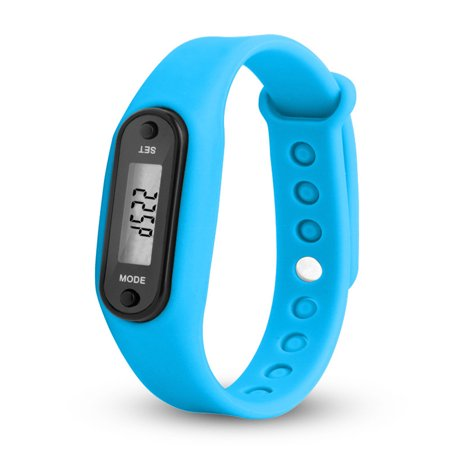 Stylish Colorful Run Step Walk Watch Waterproof Pedometer Bracelet Replacement WristBand with Buckle for Kids Women Men Color:Sky (Best Run Walk Interval App)