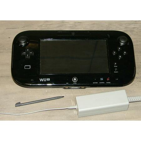 Replacement Nintendo Wii U GamePad (Black) + Charger & Stylus