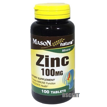 Mason Mineral Zinc 100mg Dietary Supplement Immune Function & Prostate