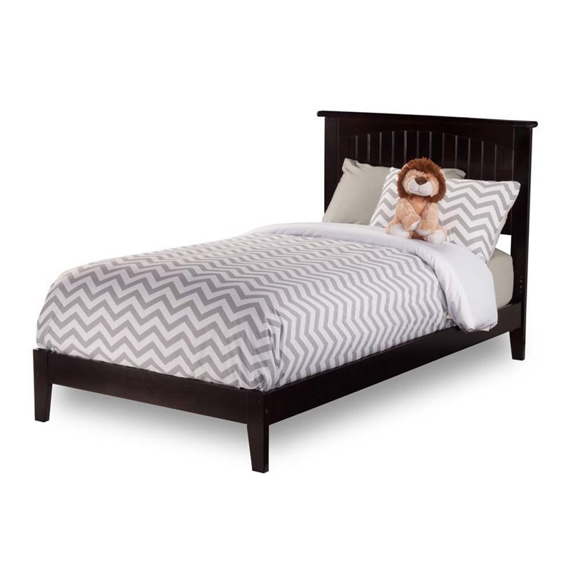 Leo & Lacey Twin XL Panel Platform Bed in Espresso