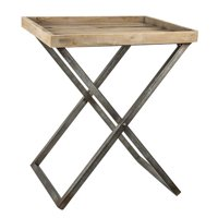 7e8b49bf58d9 Product Image Gracie Oaks Delicia Decor Wood and Metal Folding Card Tray  Table