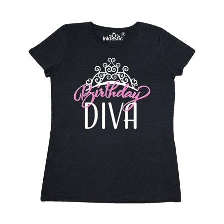 Birthday Diva in Pink with Tiara Women's T-Shirt