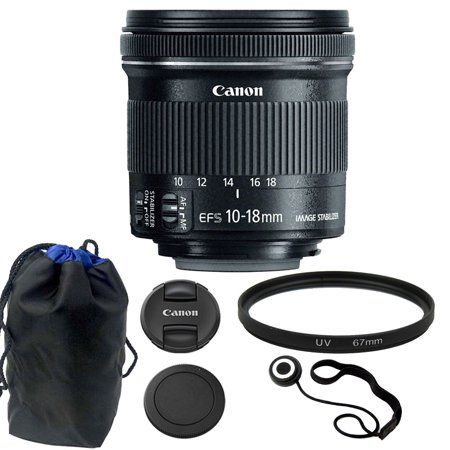 Canon EF-S 10-18mm f/4.5-5.6 IS STM Lens Kit for Digital SLR