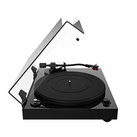 Fluance RT83 Reference High Fidelity Vinyl Turntable Record Player with Ortofon 2M Red Cartridge, Speed Control Motor, Solid Wood Plinth, Vibration Isolation Feet - Piano Black - image 6 de 7