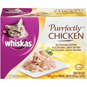 WHISKAS PURRFECTLY Chicken Variety Pack Wet Cat Food 3 Ounces (10 Count)