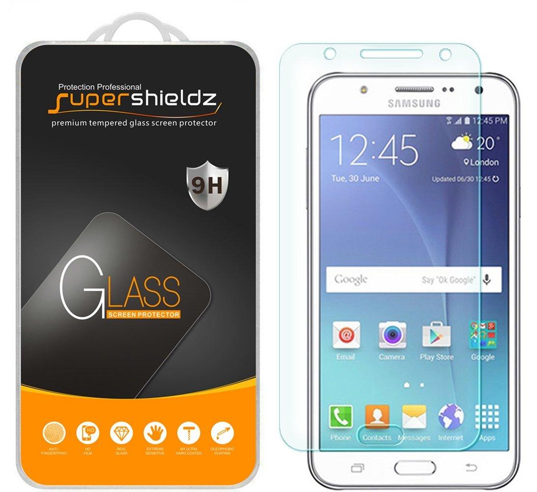 [2-Pack] Supershieldz Samsung Galaxy J7 Tempered Glass Screen Protector, Anti-Scratch, Anti-Fingerprint, Bubble Free