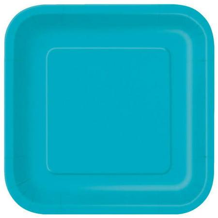 """Party Paper Square Dinner Plate 9"""", 14Pcs - image 1 de 1"""