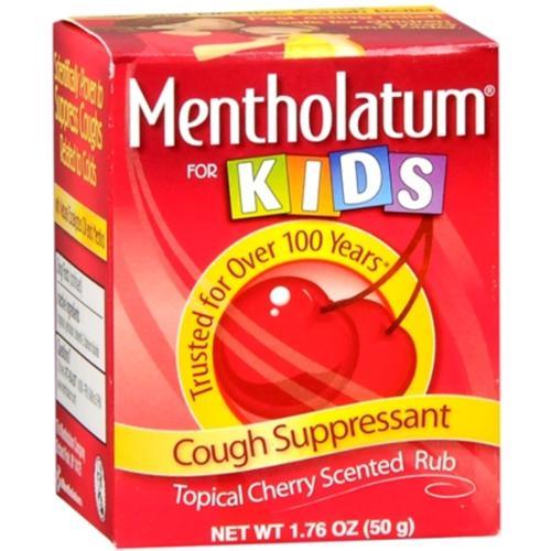 Mentholatum Cherry Chest Rub For Kids 1.76 oz (Pack of 4)