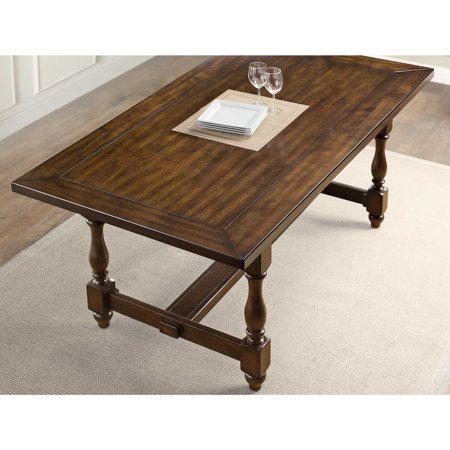 Better Homes And Gardens Providence Dining Table Brown Walmart Com Walmart Com