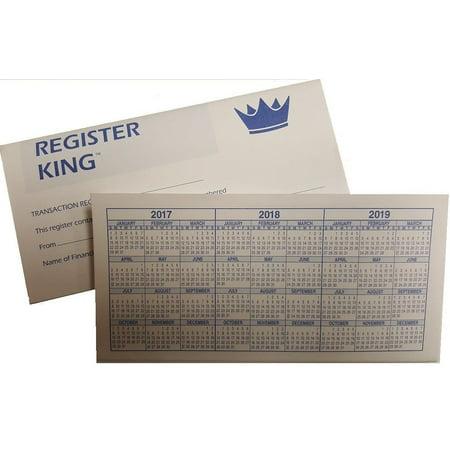 10 Checkbook Registers by Register King (Detailed Visitor Register Book)