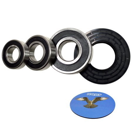 - HQRP Bearing and Seal Kit for GE WCVH6400J0WW WCVH6400J1WW WCVH6400J2WW WCVH6600H0BB WCVH6600H0GG WCVH6600H0MB Front Load Washer Tub + HQRP Coaster