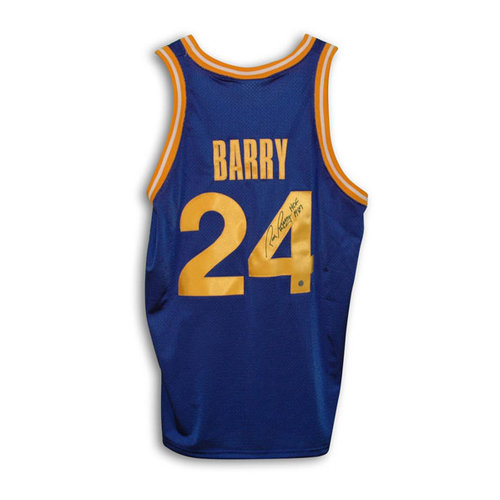 """NBA - Rick Barry Golden State Warriors Autographed Blue Throwback Jersey Inscribed """"HOF 1987"""""""