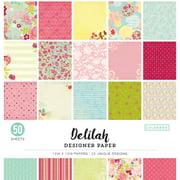 "Colorbok 12"" Delilah Designer Paper Pad, 50 Piece"