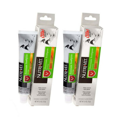Enzymatic Toothpaste for Dogs 2 PACK Tartar Plaque Control Chicken Flavor Total of 5 Oz (Total Control Herbalife Packs)