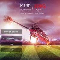 WLtoys XK K130-B RC Helicopter 2.4G 6CH Brushless 3D6G Flybarless FUTABA S-FHSS Stunt Helicopter without Transmitter