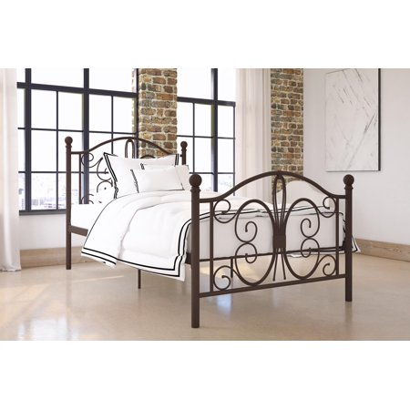 DHP Bombay Metal Bed, Multiple Sizes and Colors