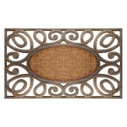 A1 Home Collections First Impression Elegant Circles Door Mat