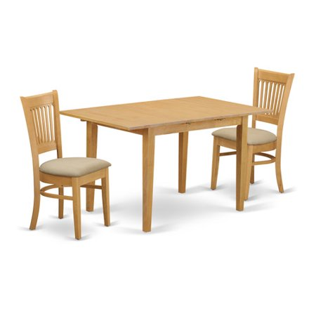 Nova3 oak c 3 piece dining room set small dining table for 3 piece dining room table