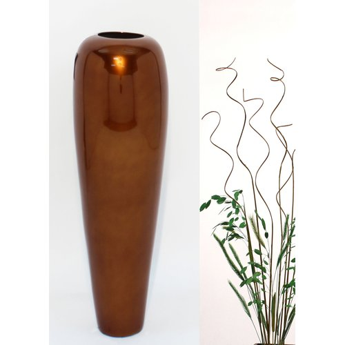 Bungalow Rose Branden Lacquer Bamboo Tapered Floor Vase