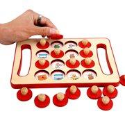 Iuhan Wooden Memory Match Stick Game Kid Intelligence IQ Brain Teaser Game