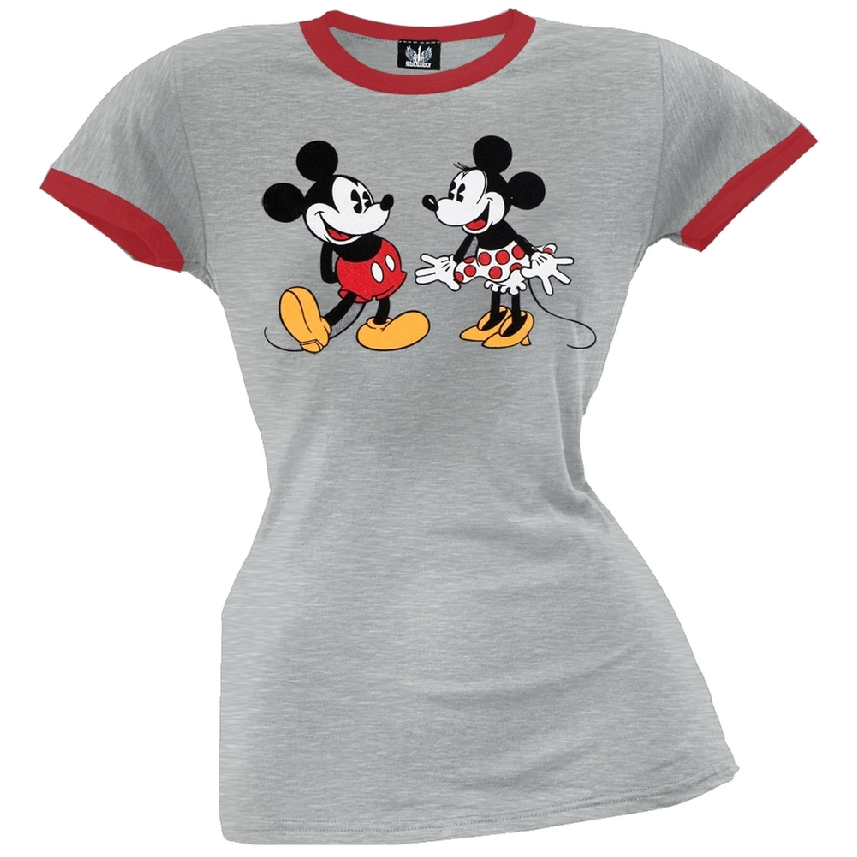 Mickey Mouse - Best Friends Juniors Ringer T-Shirt