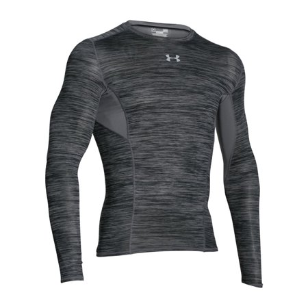 Graphite Training Top - Men's CoolSwitch Long Sleeve Compression Shirt - Graphite, XXXL