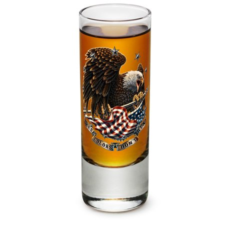 Shot Glasses – Veterans Gifts for Men or Women – American Soldier Shot Glasses – These Colors Don't Run Patriotic Glass Shot Glass with Logo (2 (Americas Best Womens Glasses)