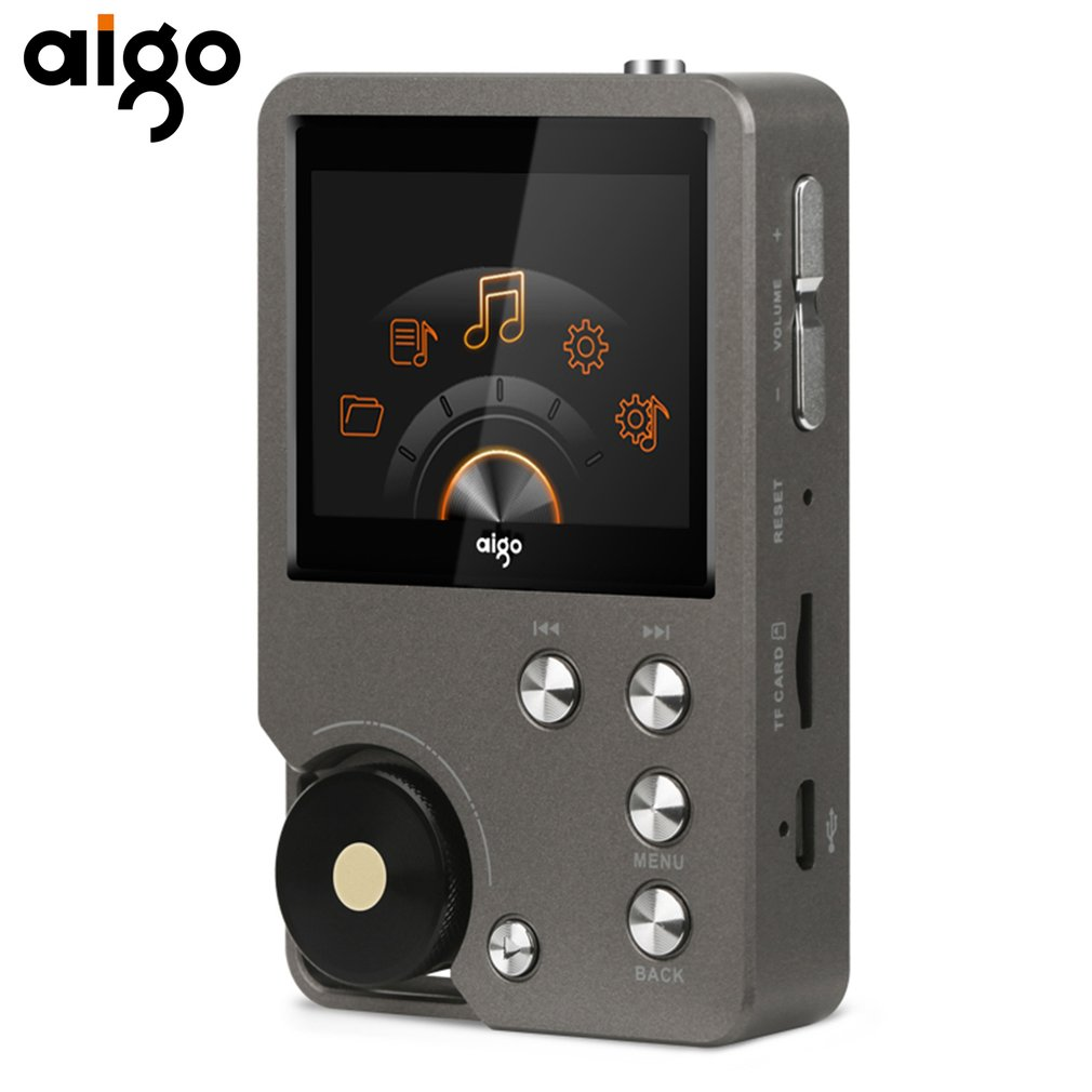 High Quality Aigo MP3 Player 105 Universal Premium Gray HiFi Enthusiast Lossless Music 2.0