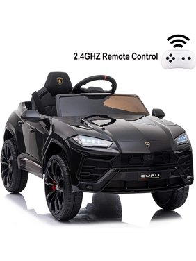 12 V Ride on Toys With Remote, SEGMART Kids Electric Ride on Car for Boys Girls, Battery Powered Power 4 Wheels Vehicles with LED Lights, Music, Horn, Gift for 1-4 Years Girls Boys, Black, L5307