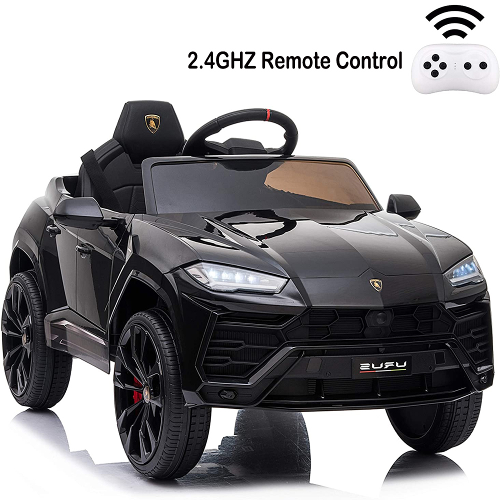Kids Electric Car 12V Battery Lambo Ride On Toy Remote Control MP3 Lights Yellow